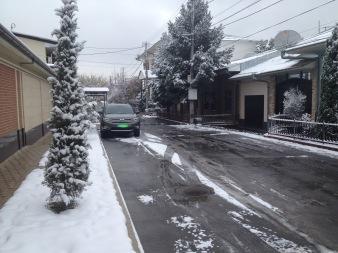 Der erste Schnee! The first snow.