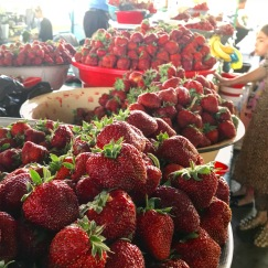 Fresh produce at the bazars